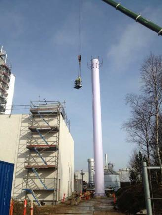 Industrial steel chimney Novozymes - SSM